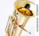 A Gold Brass Tuba Euphonium...