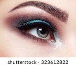 beautiful woman face. perfect... | Shutterstock . vector #323612822