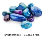 Semiprecious Stones Isolated O...