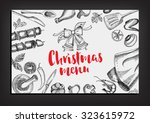 christmas party invitation... | Shutterstock .eps vector #323615972