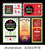christmas party invitation.... | Shutterstock .eps vector #323615978
