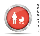 woman with pram pictogram flat... | Shutterstock .eps vector #323623862