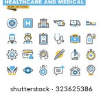 Flat Line Icons Set Of Health...