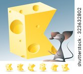 3d Vector Yellow Cheese...