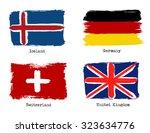 european grunge flags. flags of ... | Shutterstock .eps vector #323634776