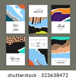 collection of artistic cards... | Shutterstock .eps vector #323638472
