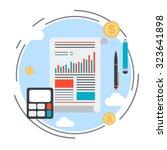 business report  financial... | Shutterstock .eps vector #323641898