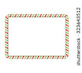 frame made of candy cane  red... | Shutterstock .eps vector #323643512