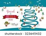 cute eskimos characters... | Shutterstock .eps vector #323645432