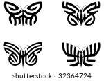 abstract butterflies | Shutterstock .eps vector #32364724