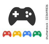 game controller icon. flat... | Shutterstock .eps vector #323649836