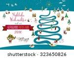 cute eskimos characters... | Shutterstock .eps vector #323650826