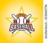 baseball tournament... | Shutterstock .eps vector #323660756