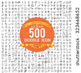 set of 500 quality icon  media... | Shutterstock .eps vector #323668652