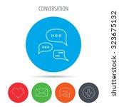 conversation icon. chat speech... | Shutterstock .eps vector #323675132