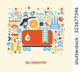 oil industry concept design on... | Shutterstock .eps vector #323677346