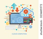 cloud computing concept design... | Shutterstock .eps vector #323685572
