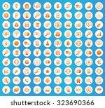 finance icons set  orange image ...