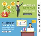 growing revenue  business...   Shutterstock .eps vector #323692256