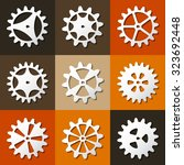 cogwheel set isolated. vector... | Shutterstock .eps vector #323692448