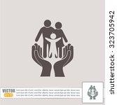 family life insurance sign icon.... | Shutterstock .eps vector #323705942