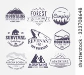 set of premium vector labels on ... | Shutterstock .eps vector #323708648