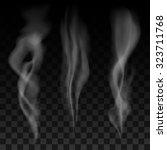 set of smoke waves on... | Shutterstock .eps vector #323711768