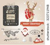 christmas set   labels  emblems ... | Shutterstock .eps vector #323711948
