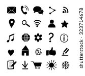set of basic hand drawn icons.... | Shutterstock .eps vector #323714678