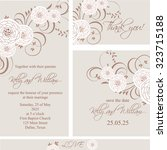 wedding invitation  thank you...   Shutterstock .eps vector #323715188