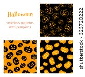 set of vector seamless patterns ... | Shutterstock .eps vector #323720222
