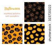 set of vector seamless patterns ... | Shutterstock .eps vector #323720222