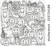 pattern for coloring book. set...   Shutterstock .eps vector #323724188