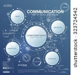 communication technology with... | Shutterstock .eps vector #323724542