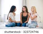 portrait of a two teenage girls ... | Shutterstock . vector #323724746