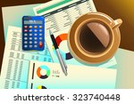 a vector illustration of cup of ...   Shutterstock .eps vector #323740448