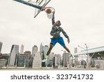 Basketball Player Performing...