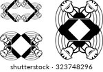 set of abstract graphic frames... | Shutterstock .eps vector #323748296