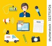 journalism press news reporter. ...   Shutterstock .eps vector #323751926