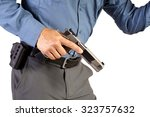 executive protection man with... | Shutterstock . vector #323757632