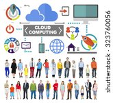 cloud computing network online... | Shutterstock . vector #323760056