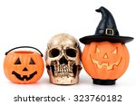wish you a great halloween... | Shutterstock . vector #323760182