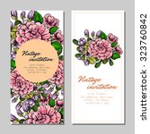 invitation with floral... | Shutterstock .eps vector #323760842