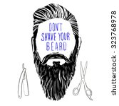 vector hand drawn typography... | Shutterstock .eps vector #323768978