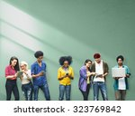 colleagues connection student... | Shutterstock . vector #323769842