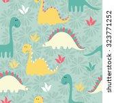vector art seamless pattern... | Shutterstock .eps vector #323771252