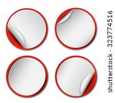 set of blank  round promotional ... | Shutterstock .eps vector #323774516