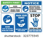 wash your hands sign  avoid... | Shutterstock .eps vector #323775545