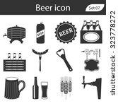 beer icons set. vector... | Shutterstock .eps vector #323778272