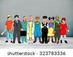 children kids dream jobs... | Shutterstock . vector #323783336
